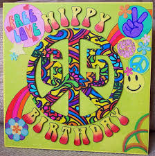 whitch craft hippie 65th birthday card