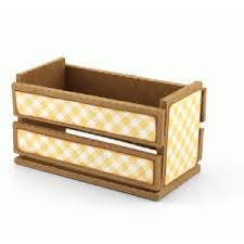 silhouette design store view design 66549 3d wooden crate box