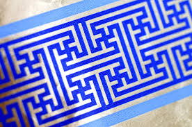 hanukkah wrapping paper pulls hanukkah wrapping paper covered in swastikas