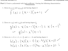 polynomials worksheet youtube