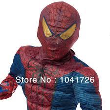 Super Deluxe Halloween Costumes Amazing Spiderman Classic Muscle Chest Kids Super Deluxe