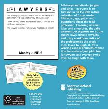 lawyers 2017 day to day calendar andrews mcmeel publishing