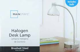 Cheap Halogen Desk Lamp Mainstays Halogen Desk Lamp Brushed Steel Walmart Com