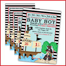 pirate baby shower invitation cards baby shower decoration