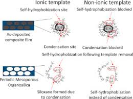 template dependent hydrophobicity in mesoporous organosilica films