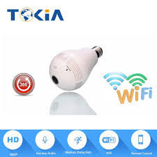 light bulb security system wifi led bulb camera panoramic 960p wireless bulb camera ip camera