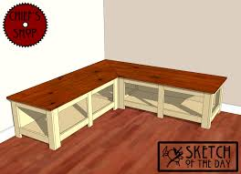 Wooden Bench With Storage Plans by Corner Window Bench 40 Furniture Ideas With Corner Window Bench