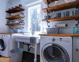 Laundry Room Decor And Accessories Diy Laundry Room Decor Using Wooden Shelves And Vintage