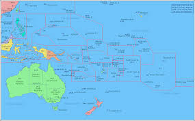 Map Of Eastern Caribbean by Amateur Radio Prefix Map Of Oceania