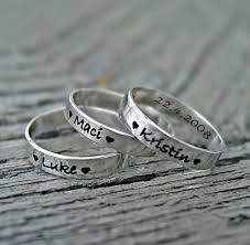 customized rings with names mothers rings 3mm stackable rings personalized mothers