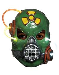 gas mask costume s putrid light up biohazard gas mask costume accessory ebay