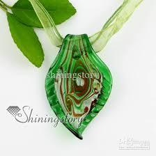 glass necklace pendants images Wholesale leaf silver foil swirled pattern lampwork murano italian jpg