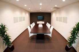 Contemporary Boardroom Tables Conference Room With Black Leather Chairs Also Cream Wooden
