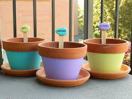 Painting Garden Pots Ideas Popsicle Sticks And Painted Rocks Great Idea For Garden Markers
