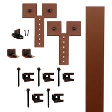 quiet glide hook strap black rolling barn door hardware kit with 3