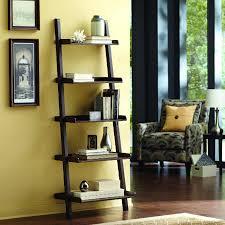 Ladder Shelving Unit Shop Allen Roth Java 27 In W X 81 In H X 17 63 In D 5 Shelf