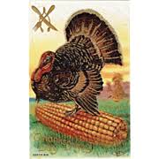 vintage thanksgiving postcards on ruby