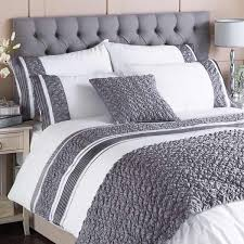Teenage Duvet Sets Bedroom Bianca Whitegrey Duvet Covers And Pillow Shams Crate