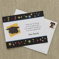 graduation thank you card personalized graduation thank you notes let s celebrate