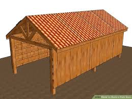 How To Build A Pole Barn Plans For Free by 3 Ways To Build A Pole Barn Wikihow
