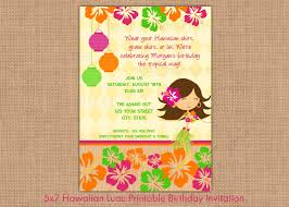 luau clip art hawaiian luau printable birthday invitation by