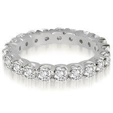 eternity ring 1 40 cttw 14k white gold shared prong diamond eternity ring