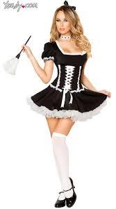 Mary Jane Halloween Costume French Maid Costume Mischievous Maid Costume
