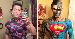 makeup artist book makeup artist turns himself into superheroes with nothing but