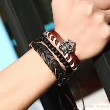 fashion bracelet sets images 2018 2017 europe men bracelet sets male alloy skull wood beads jpg