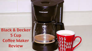 black and decker coffee maker review dcm600w 5 cup drip