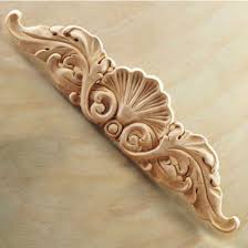 corbels wood ornament onlay carved shell 20 w x 5 8 d x 4 1