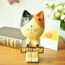 cat ornaments outdoor decor shatter proof easy to