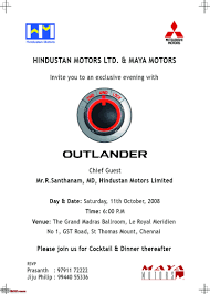 Launch Invitation Card Sample Mitsubishi Outlander Launch Invite For Chn Bhpians Edit Now Hyd