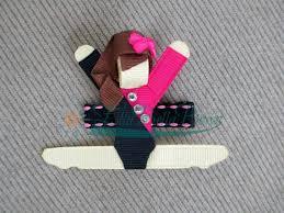 ribbon for hair that says gymnastics gymnast ribbon sculpture hair clip gymnastics accessory made lulú