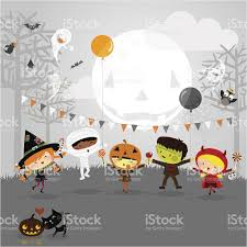 kids halloween party clipart halloween party and kids costumes stock vector art 156779590 istock