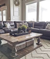 Furniture Layout Ideas  Balance And Symmetry Couch Sofa Brown - Decorating ideas for living rooms with brown leather furniture