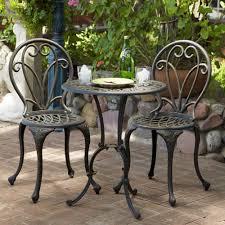 Overstock Com Patio Furniture Sets - thomas cast aluminum dark gold 3 piece bistro set patio table