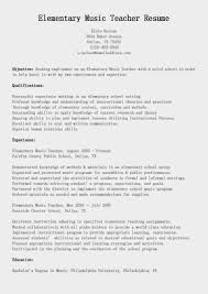 Elementary Teacher Resume Sample by Sample Resume For Business Teacher Templates