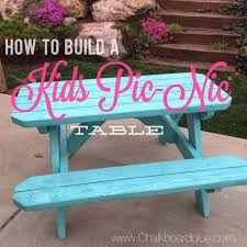 Plans For Making A Round Picnic Table by Chalkboard Blue How To Build A Kids Pic Nic Table