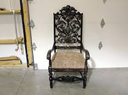Antique High Back Chairs High Back Antique Wooden Chairs Thesecretconsul Com