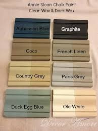 decor amore my annie sloan chalk paint color boards with dark