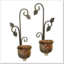 Glass Wall Sconces For Candles Beautiful Wall Decor With Scroll Pattern Candle Holder Wall Sconce