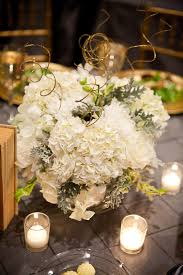 White Floral Arrangements Centerpieces by Snowy Winter Wedding In Washington Dc Sarah Nick United With Love
