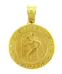 14k gold religious pendants the christopher