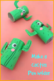 how to make a cactus pen holder creative kids crafts pinterest