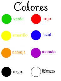 spanish color names worksheet i speak my mind pinterest