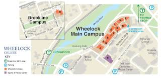 Usa Campus Map by Campus Map In Boston Wheelock College Boston Ma