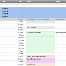 free excel schedule templates for schedule makers with