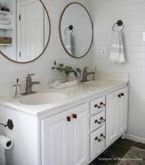 Bathroom Makeover On A Budget - how to transform a builder grade bathroom vanity for less
