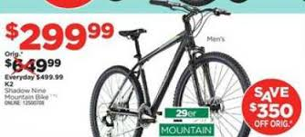 black friday mountain bike deals black friday deal k2 shadow 9 29